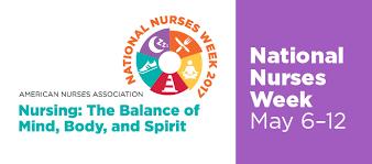 National Nurses Week Begins May 6